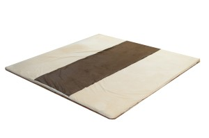 cream espresso foam baby play mat