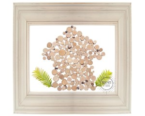 Pastel Wooden Frame Isolated on White with a Clipping Path.